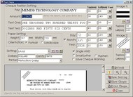 MemDB Cheque Printing System screenshot
